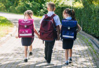 đaci, djeca, školske torbe