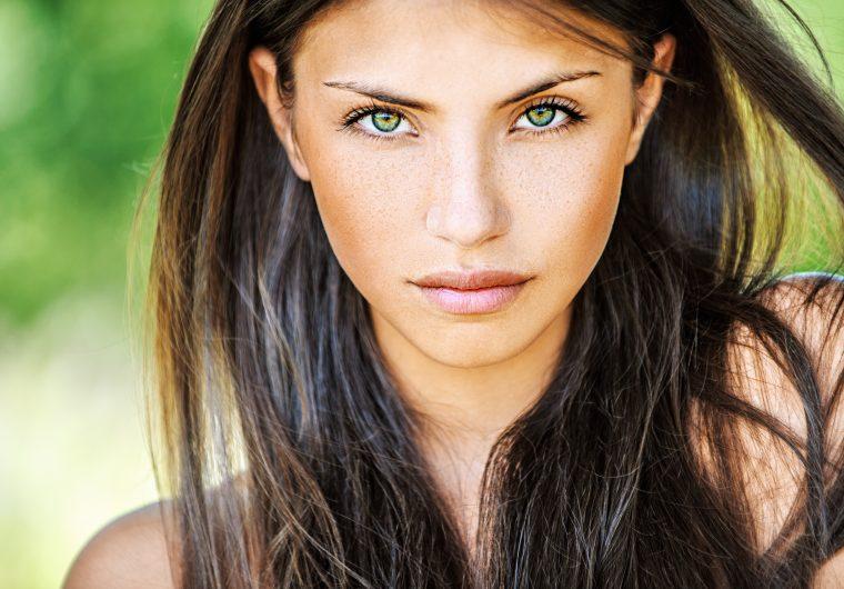 žena, oči