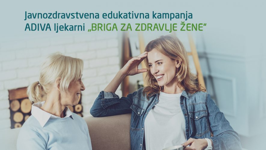 Javnozdravstvena kampanja Briga za zdravlje žene o hormonskoj neravnoteži i inkontinenciji