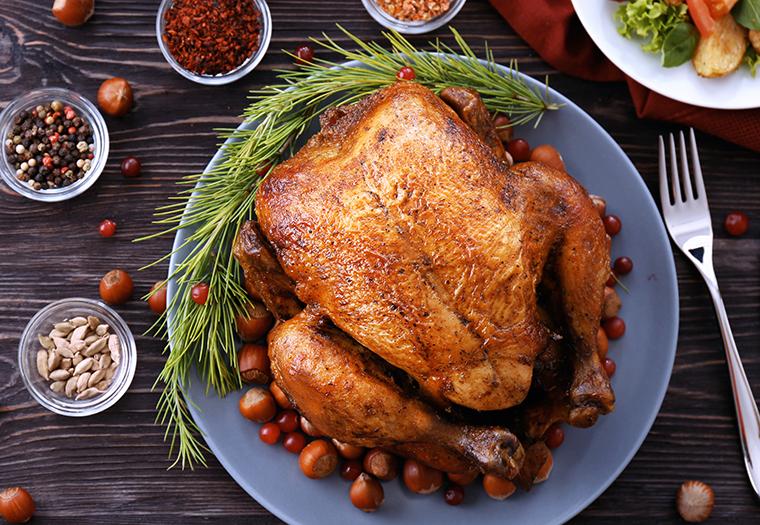 roasted turkey, christmas lunch, holiday table, dalmatia, croatia, www.zadarvillas.com