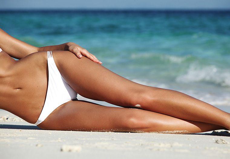 brazilska depilacija, bikini, more, plaža