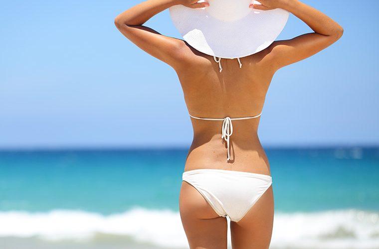 ljeto, bikini, plaža, more