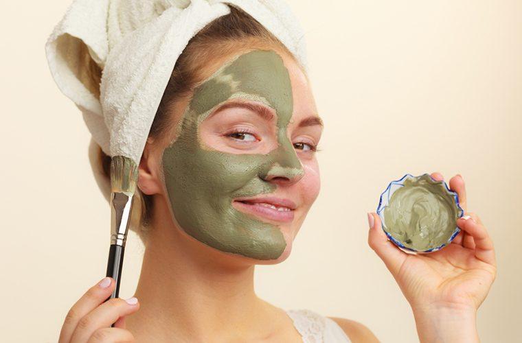 maska, glina, lice, ljepota