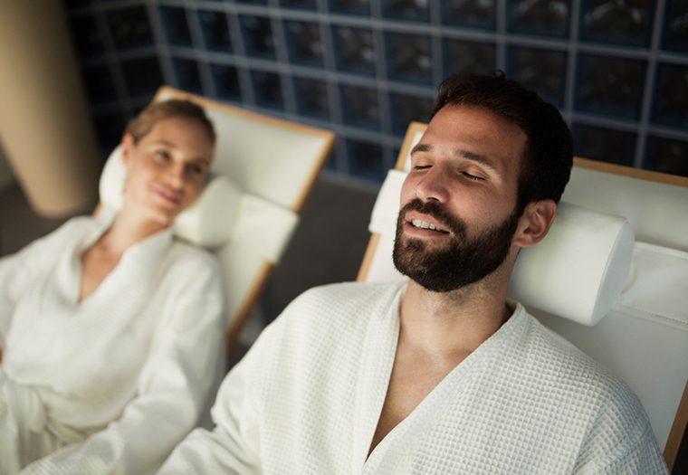 muškarac, spa, salon ljepote