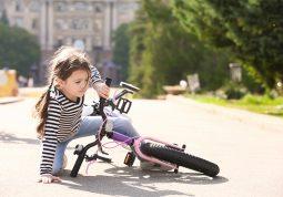 pad s bicikla, dijete, dječje ozljede