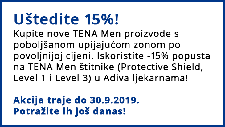 TENA Men štitnici akcija
