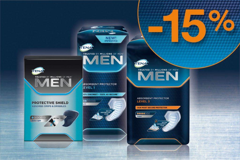 akcija na TENA Men stitnike za inkontinenciju