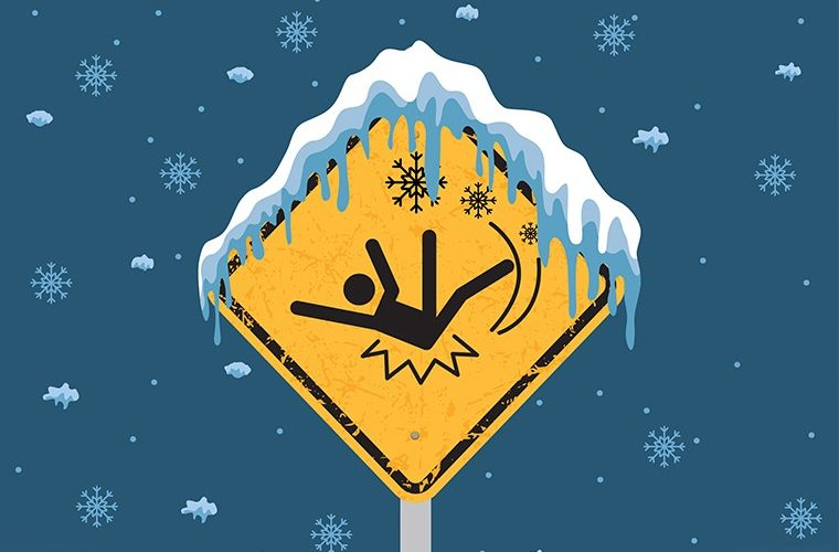padovi na ledu i ozljede
