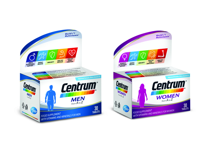 Centrum Men i Centrum Women vitamini