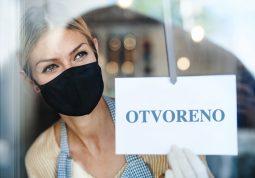 COVID-19 koronavirus novo normalno bliski kontakt drustveno distanciranje mjere opreza