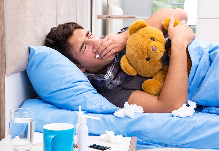 muskarci teze podnose gripu