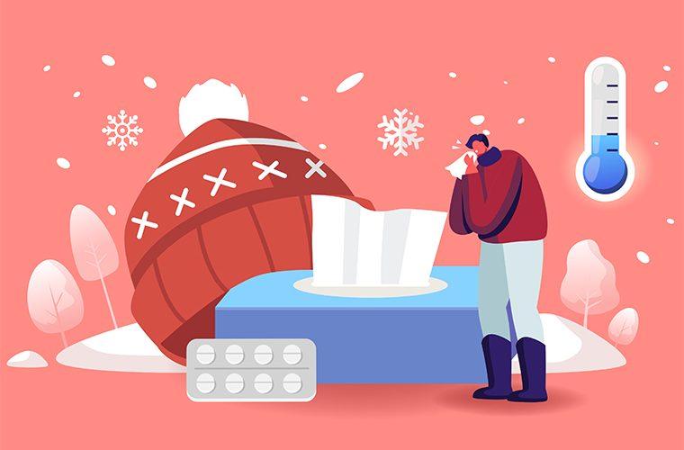 hladnije doba godine respiratorni virusi bakterije COVID zima
