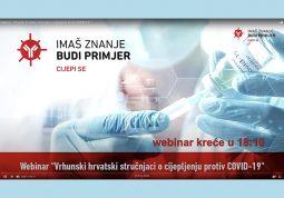 Webinar strucnjaci cijepljenje COVID19